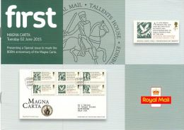 ROYAL MAIL COMMUNICATION STAMPS EMISSION 2015 MAGNA CARTA - Gran Bretaña