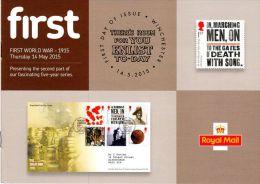ROYAL MAIL COMMUNICATION STAMPS EMISSION 2015 FIRST WORLD WAR - Gran Bretaña