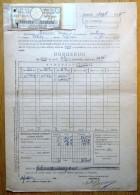 Romania, 1945, Authentic Vintage Bond Receipt - Mortgage Endowment Coupons - Azioni & Titoli
