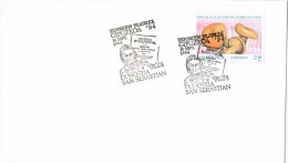 14122. Carta Exposicion SAN SEBASTIAN (Guipuzcoa) 1994. Setas. Bolots, Champignons - 1931-Hoy: 2ª República - ... Juan Carlos I