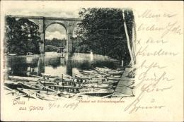 Cp Görlitz In Der Lausitz, Viadukt Mit Kahnlandungsplatz, Eisenbahnviadukt - Sonstige