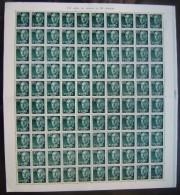 ESPAÑA - EDIFIL Nº 1152 - FRANCO 80CTS - PLIEGO 100 SELLOS NUEVOS (**) - RALLA MARGEN DERCHO - 1931-Hoy: 2ª República - ... Juan Carlos I