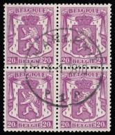 BELGIUM - Scott #269 Coat Of Arms / Used Block Of 4 Stamps (bk501) - Blocks & Sheetlets 1924-1960