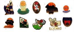 Basket_Club  Allier & Autres_Lot 2 Pin´s Aux Choix Sur 10 Présentés_Envoi Gratuit France - Basketball