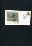BELGIUM 1986 FDC BUZUN With KINGFISHER-SILK VIGNET. - 1985-.. Oiseaux (Buzin)