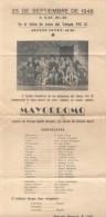 MAYORDOMO OBRA TEATRAL ORIGINAL DE ENRIQUE CAPILLA MARQUEZ CON MUSICA DE ANTONIO MICELI 25 DE SEPTIEMBRE DE 1948 - Programs
