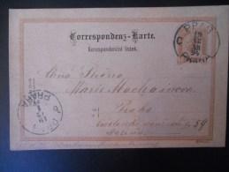 Tcecoslovaquie Carte De Prag,praha 1894 , Carte D Autriche - Tchécoslovaquie