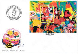 FDC Mi Block 8  1996 - Childrens Games Play