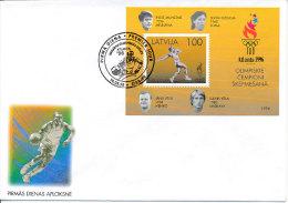 FDC Mi Block 9  1996 - Olympic Summer Games Atlanta Javelin