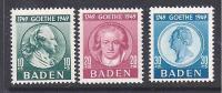 BADE - Série N° 48 / 50  **  Sans Trace De Charnière  - Cote : 53  € - Französische Zone