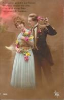 CPA COLORISEE FANTAISIE  -   L'Amoureux Offrant Des Fleurs - ENCH33 - - Women
