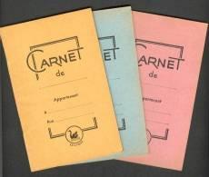COLLECTION DE 3 CARNETS LE CYGNE 1950 ? ROSE BLEU JAUNE BON ETAT MAIS FEUILLES JAUNIES AVEC TABLE DE MULTIPLICATION - Papeterie