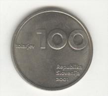100 Tolarjev Slovénie / Slovenia 2001 - 10ème Anniversaire Du Tolar Et De La Slovénie - Slovenia