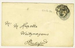 Storia Postale - GRAN BRETAGNA - ANNO 1894 - DA LONDRA PER BUDAPEST - FROM LONDON TO BUDAPEST - POSTAL STATIONERY - Stamped Stationery, Airletters & Aerogrammes