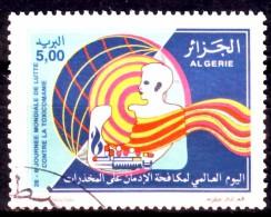 Algérie - Timbre Oblitéré N° YT 1111 - Journée Mondiale De La Toxicomanie. - Algerien (1962-...)