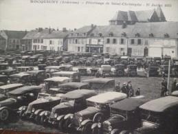 CPA Ardennes Rocquigny Pélerinage De Saint Christophe 27 Juillet 19224 Autos Autobus - Frankrijk