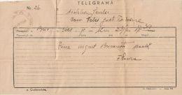 2583FM- TELEGRAMME SENT FROM BUCHAREST TO PALOS, 1948, ROMANIA - Télégraphes