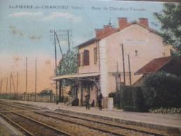 CPA Saint Pierre De Chandieu Isère Gare De Chandieu Toussieu - Autres Communes