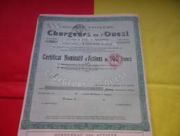 CHARGEURS DE L´OUEST (certificat) Nantes , Loire Atlantique - Shareholdings