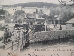 CPA Var Tamaris L'arrivée Du Bateau - Tamaris