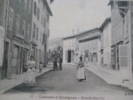 CPA Rhône Lamure Sur Azergues Grande Rue - Lamure Sur Azergues