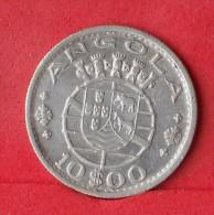 ANGOLA  10  ESCUDOS  1955  5 GRS - 0,720 SILVER KM# 73  -    (Nº12434) - Angola