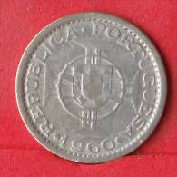 MOZAMBIQUE  5  ESCUDOS  1960  4 GRS - 0,650 SILVER KM# 84  -    (Nº12435) - Mozambique