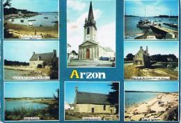 ARZON (Morbihan) - Multivues : Kerners Au Port-Mort, Moulin De Pen-Castel, Anse Du Croisty, Eglise, Chapelle, Port..... - Arzon