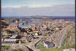 Greenland PPC Udsigt Fra Bakken Bag Kirken Holsteinsborg HOLSTEINSBORG 1968 BRØNDERSLEV Denmark Cz. Slania (2 Scans) - Grönland