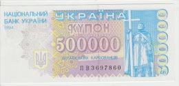 Ukraine 500000 Kupon 1994 Pick 99 UNC - Ukraine