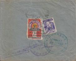 G)1950 PERU, OCTOBER FAIR-INDUSTRIAL BANK OF PERU, CIRCULATED COVER TO CARIBEAN DESTINATION, XF - Peru