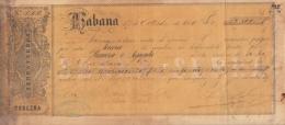 E4541 CUBA SPAIN ESPAÑA CHANGE LETTER. SERRA & SERRA Y Ca. 1866 - Historical Documents