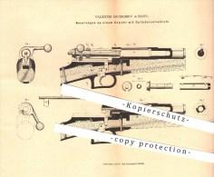 Original Patent - Valentin Sauerbrey In Basel , 1880 , Gewehr Mit Zylinderverschluss , Gewehre , Waffen , Geschosse !!! - 1914-18