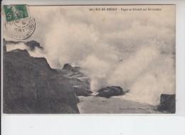 COTE D´ARMOR -  ILE DE BREHAT - Vague Se Brisant Sur Les Rochers - Ile De Bréhat