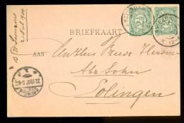 HANDGESCHREVEN BRIEFKAART Uit 1900 Van AMSTERDAM Naar SOLINGEN  (9836k) - Periode 1891-1948 (Wilhelmina)