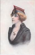 MILITAIRE - Croix De Guerre Des Alliés - Fantaisies Trichromes - A. Noyer - Série 33 - 166 - Femme - Personnages