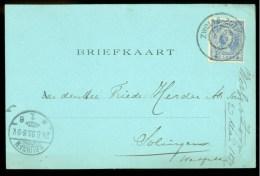 HANDGESCHREVEN BRIEFKAART Uit 1899 Van DEVENTER Naar SOLINGEN  (9836m) - Period 1891-1948 (Wilhelmina)