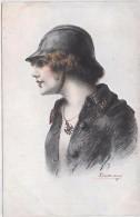MILITAIRE - Croix De Guerre Des Alliés - Fantaisies Trichromes - A. Noyer - Série 33 - 167 - Femme - Personnages