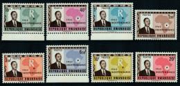 Rwanda 1962 Independence. Mi 1A-8A MNH - 1962-69: Neufs