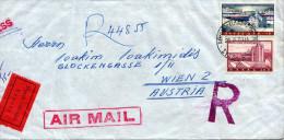 GRIECHENLAND 1961 - 6 Fach Frankierung (mit 4er Block) Auf Luftpost-Express-Reco-Brief Gel.von Athen Nach Wien - Griechenland