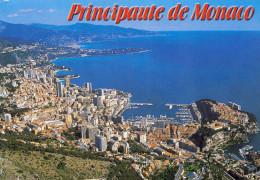 PRINCIPAUTE DE MONACO - La Cote D'Azur, Karte Gel.mit Marke - Monaco