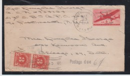 US WWII 1944 APO 794 Italy 51st S.B.M. Co.PO 464 Postage Due 6cts Censored - Postal History