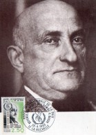 CARTE -MAXIMUM  VICTOR  BASCH   1863  1944 1ER JOUR LA ROCHELLE - Maximumkaarten