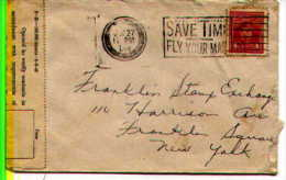 Canada 1944  World War Two Blackout Cxl On Censored Foreign Exchange Control Board Covers - Postal History