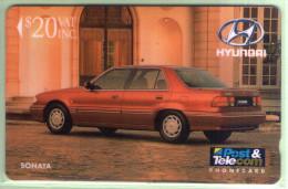 Fiji - 1992 Martin Motor Co - $20 Hyundai Sonata - FIJ-011 - VFU - Fiji