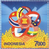 CAMBODIA/  Joint Issue Of ASEAN Community Commemorative Stamp 2015 ( Indonesia ) - Cambogia