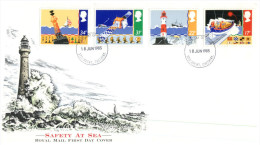 (678) UK FDC 1985 - Safety At Sea  - Lighthouse - FDC