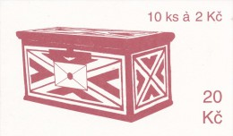 Czech Rep. / Stamps Booklet (1993) 0013 ZS 2 City Usti Nad Labem (church) Letter-box (J3709) - Czech Republic