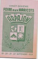 VINGT-SIXIEME  Foire Aux Haricots ARPAJON 1958 - Programmes