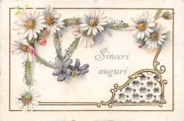 "02065  ""SINCERI AUGURI""  IN RILIEVO CON DECORO A JOUR. - Seasons & Holidays"